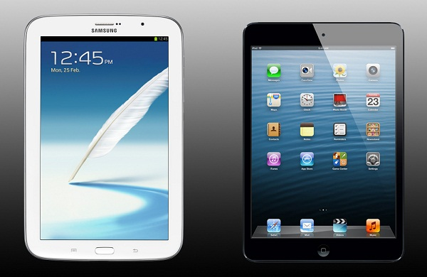 Galaxy Note 8.0 vs iPad mini