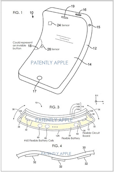 Apple iPhone with Flexible display
