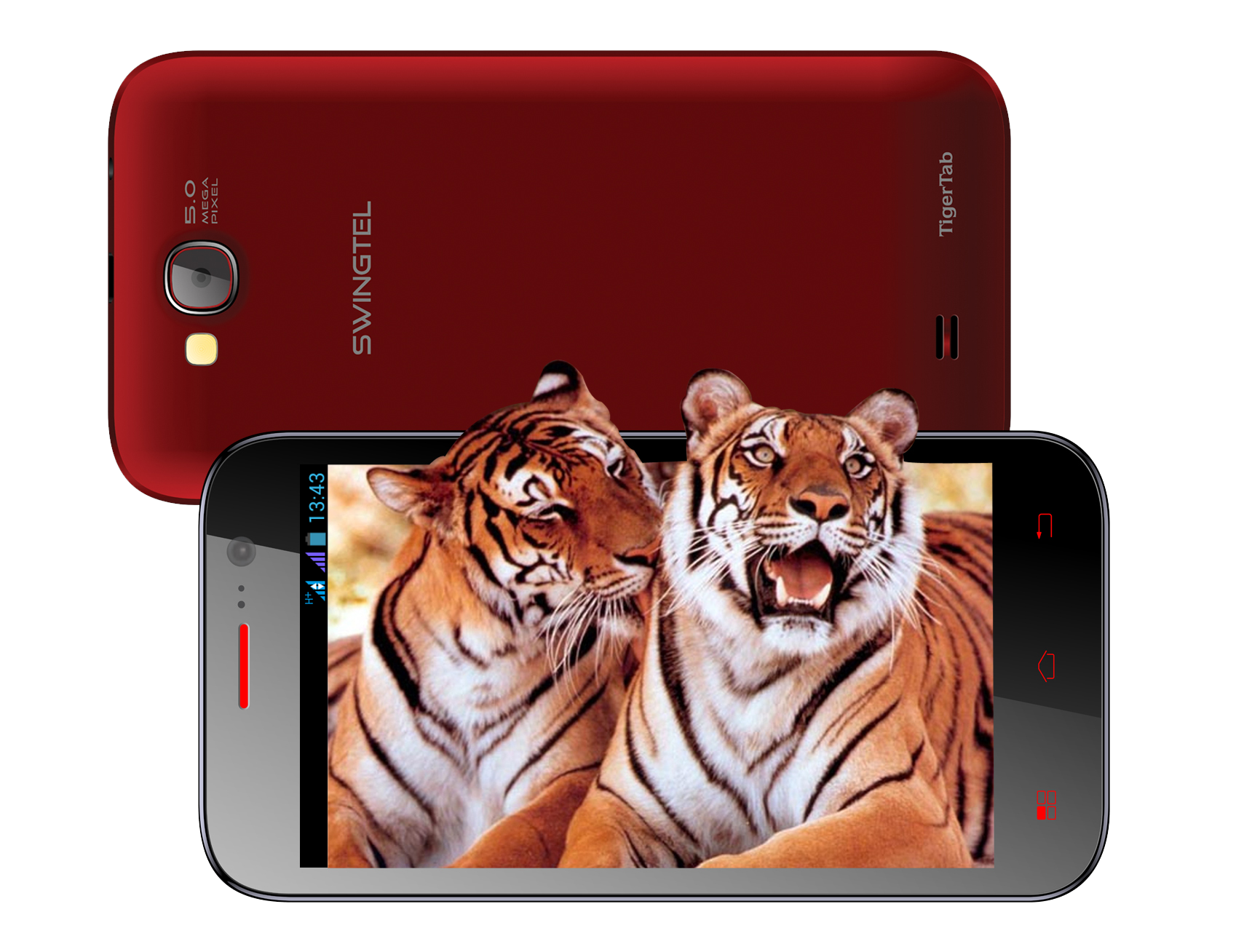 Swingtel TIGERTAB smartphone front and back