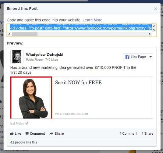 This is how you embed Facebook post on website
