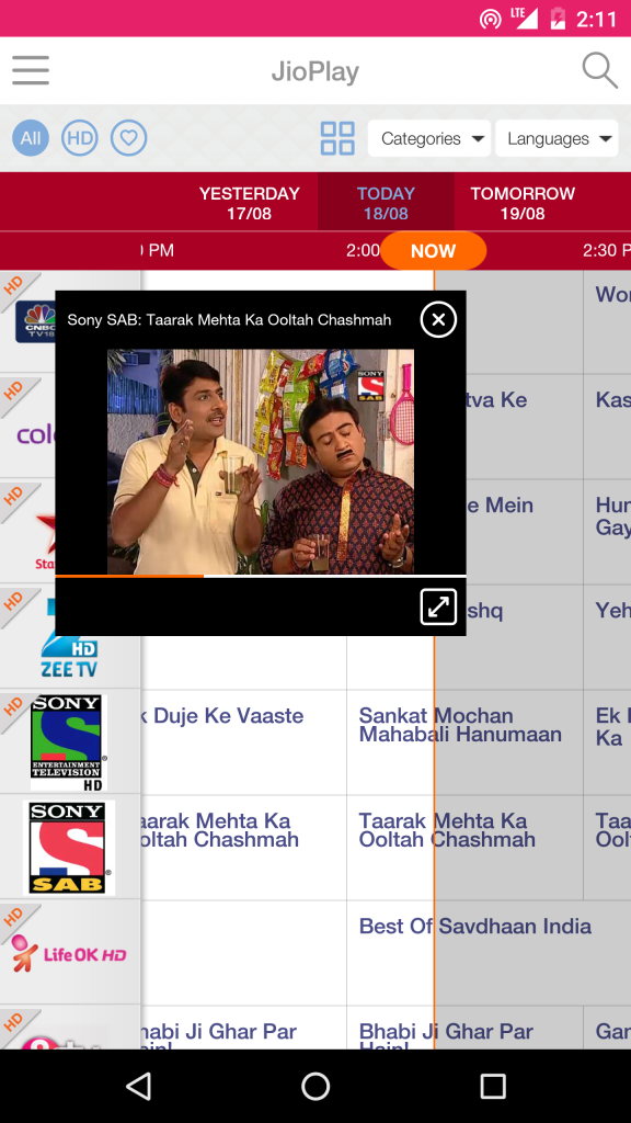 Jio Play Watch Live TV Shows